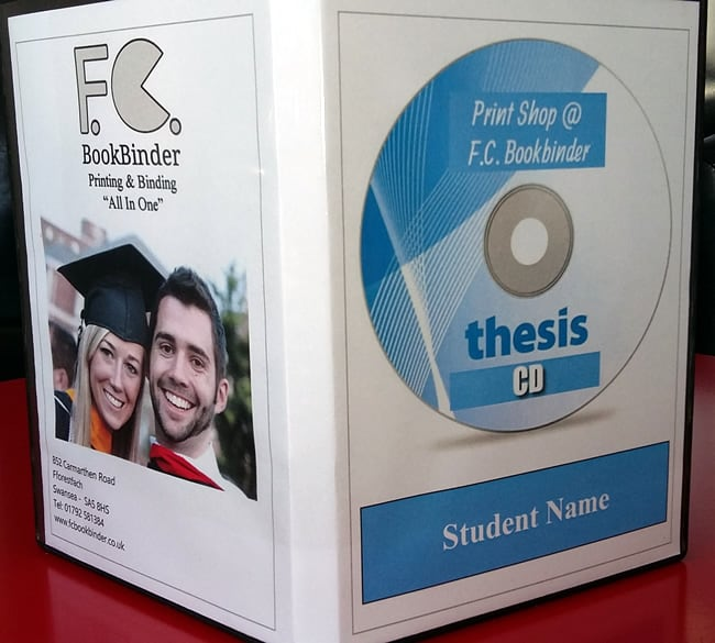 Get Your Thesis CD -  A Service provided by Print Shop @ F.C. Bookbinder